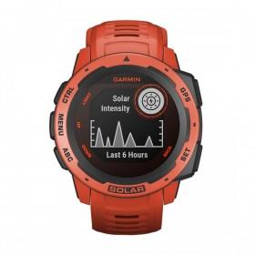 GPS мултиспорт часовник Garmin INSTINCT SOLAR Flame Red - 010-02293-20