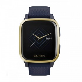 GPS мултиспорт часовник Garmin Venu Sq Music Navy с Light Gold Bezel - 010-02426-12