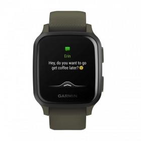 GPS мултиспорт часовник Garmin Venu Sq Music Navy с Light Gold Bezel - 010-02426-13