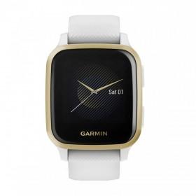 GPS мултиспорт часовник Garmin Venu Sq White с Light Gold Bezel - 010-02427-11