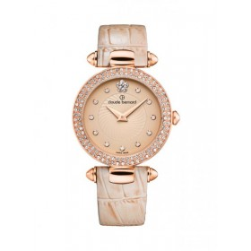 Дамски часовник Claude Bernard Dress Code with stones - 20504 37RP BEIR2