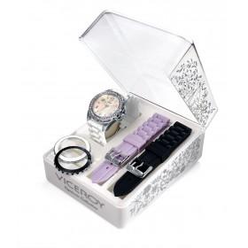 Дамски часовник Viceroy - 432110-99 в комплект с две каишки и два ринга