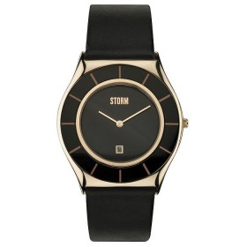 Мъжки часовник Storm London Slimrim XL Rose Gold Leather - 47196RG