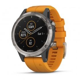 GPS мултиспорт часовник Garmin Fēnix® 5 Plus Sapphire Titanium - 010-01988-05