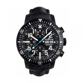 Мъжки часовник FORTIS Diver Black Chronograph - 638.18.41 LP.10