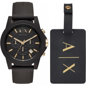 Мъжки часовник Armani Exchange OUTERBANKS GIFT SET Chronograph - AX7105