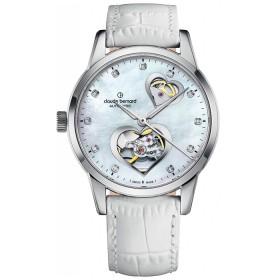 Дамски часовник Claude Bernard Auto Lady Open Heart - 85018 3M NAPN2