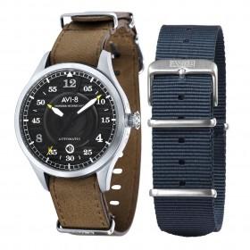 Мъжки часовник AVI-8 Hawker Hurricane - AV-4046-01 в комплект с допълнителна каишка от текстил