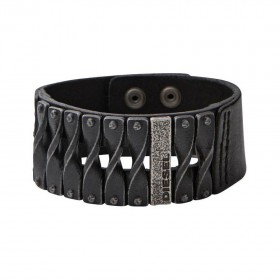 Мъжка гривна Diesel Leather/steel - DXM0579040