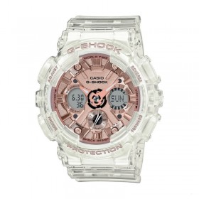 Дамски часовник Casio G-Shock Transparent Rose Gold - GMA-S120SR-7AER