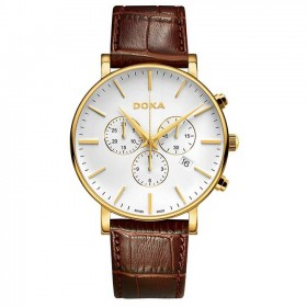 DOxa - D-light Gold Toned Men's Chronograph Watch 1723001102