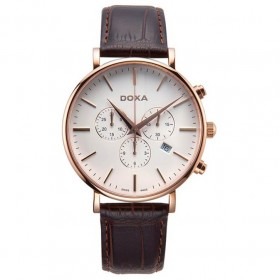 Doxa - D-Light Rose Gold Plated Men's Chronograph Watch 1729001102