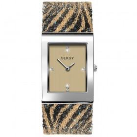 Дамски часовник Seksy Rocks Tiger Print Swarovski Crystals - S-2852.37