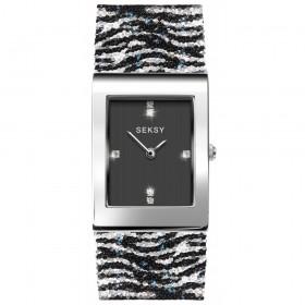 Дамски часовник Seksy Rocks Zebra Print Swarovski Crystals - S-2853.37