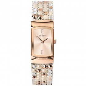 Дамски часовник Seksy Iridescent Pink Slim Swarovski Crystals - S-2952.37