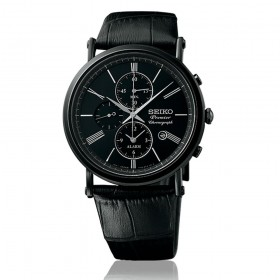 Мъжки часовник Seiko Premier Alarm Chronograph - SNAF79P1