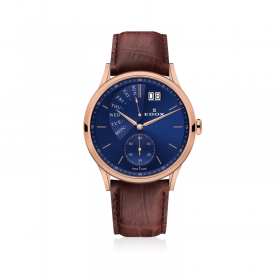 Мъжки часовник Edox Les Vauberts Retrograde - 34500 37RC BUIR